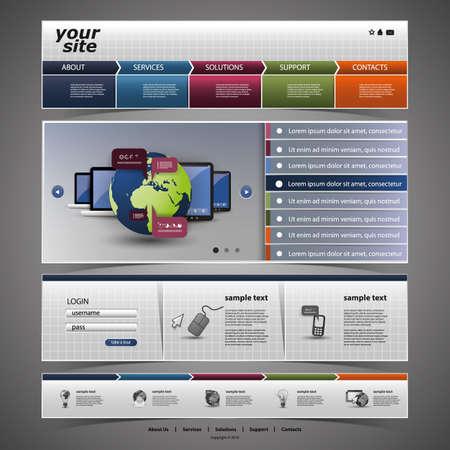 Website Template Stock Vector - 14420245