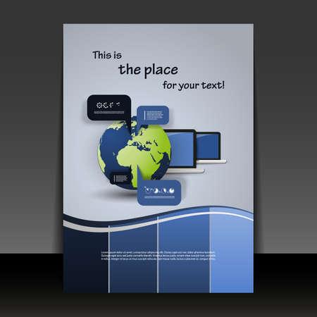 bijsluiter: Flyer of Cover Design Stock Illustratie