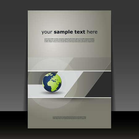 sjabloon: Flyer of Cover Design Stock Illustratie