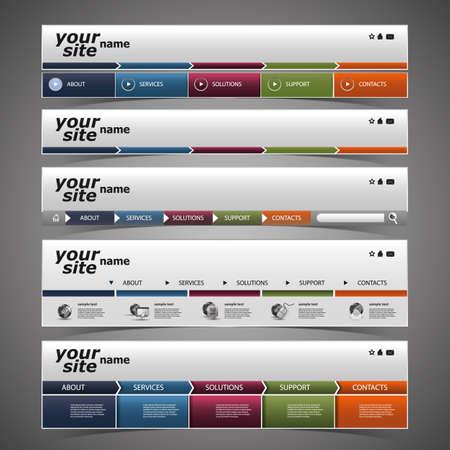 web header: Elementos de Dise�o Web - Dise�os de cabecera Vectores