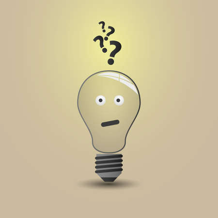 idea generation: Bulb Concept Illustration