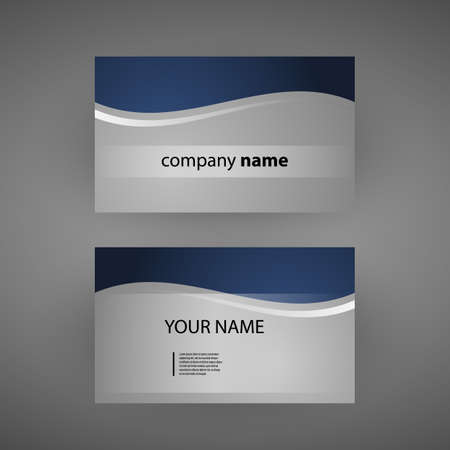 checkered label: Business Card Template Illustration