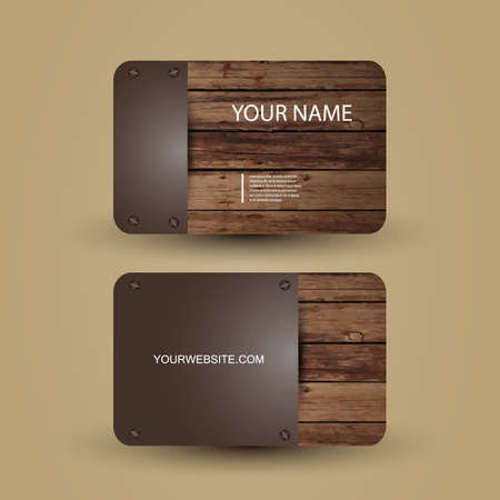 business card design: Business Card Template Illustration