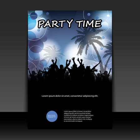 dancing disco: Flyer or Cover Design - Party Time