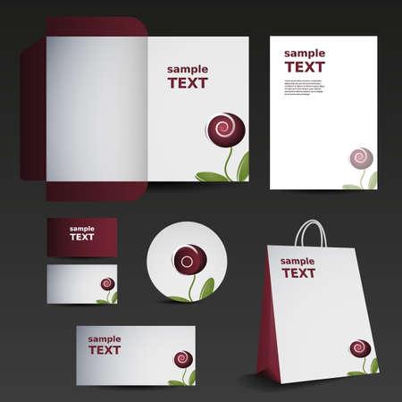 bijsluiter: Briefpapier template design - bedrijf set
