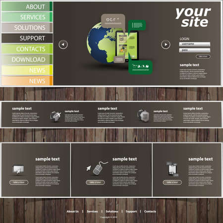 web store: Website Template