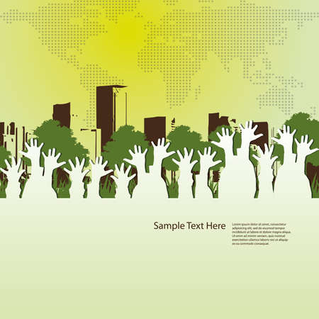 reaching: Abstract Background Vector Illustration