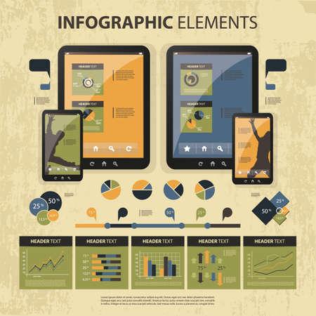 conjunto de elementos infográficos Ilustración de vector