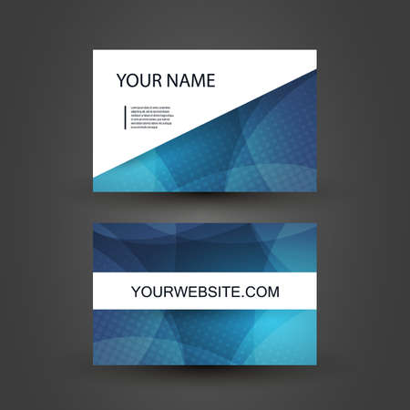 business card design: Business Card Template Illustration