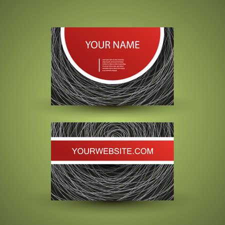 Business Card Design Stock Vector - 14797187