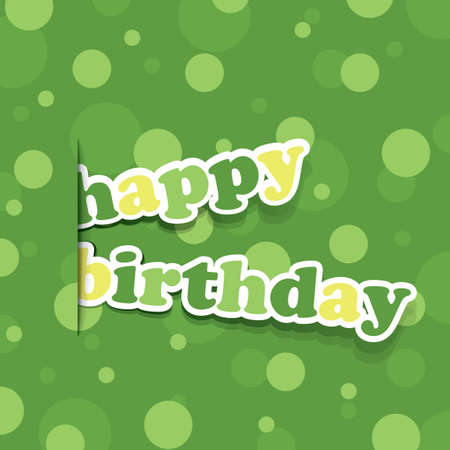 Birthday Card, Flyer or Cover Design Vector