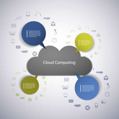 Cloud computing concept Stock Vector - 14998956