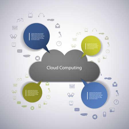 Cloud computing concept Stock Vector - 14998956