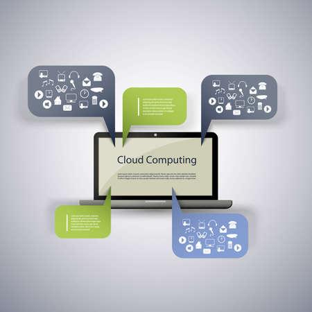 Cloud computing concept Stock Vector - 15232755