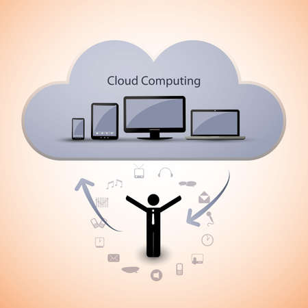 Cloud computing concept Stock Vector - 15384852
