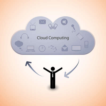 Cloud computing concept Stock Vector - 15360971
