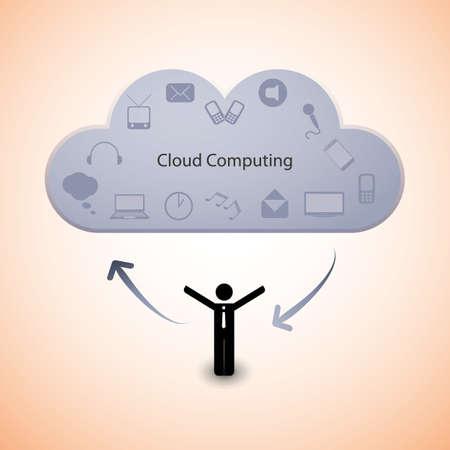 Cloud computing concept Stock Vector - 15360971
