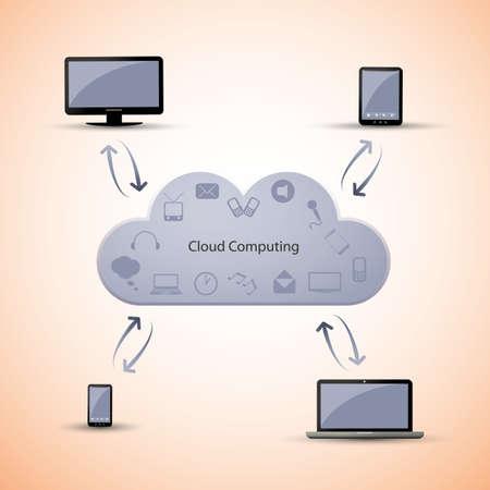 Cloud computing concept Stock Vector - 15245098