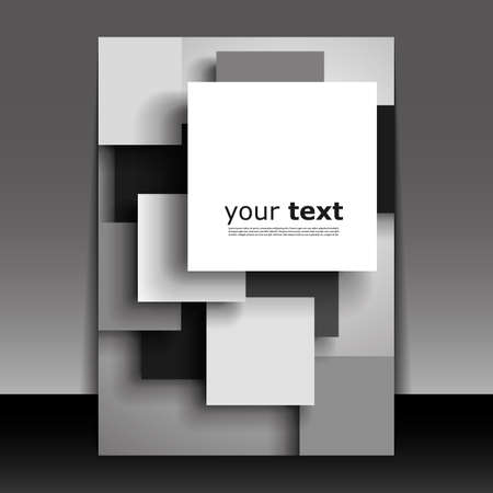 black professional: Flyer or Cover Design - Squares with drop shadows