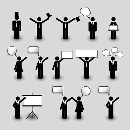Figures, People Icons - Business and Team Work Concept Vector