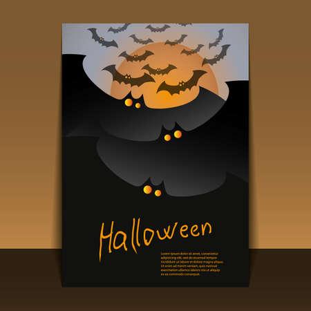Halloween Flyer or Cover Design  Vector