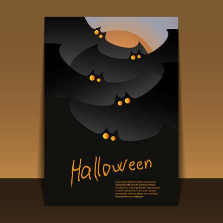 dark forest: Halloween Flyer or Cover Design