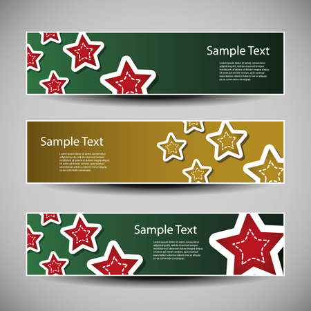 Christmas header vector set Vector