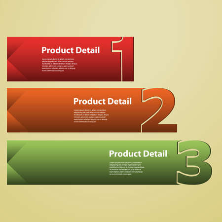 Header or Banner Design - Numbers Vector
