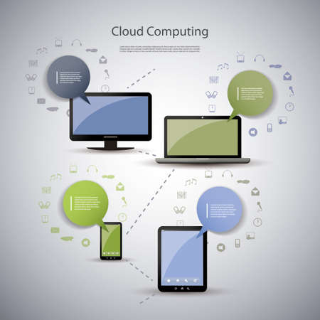 Cloud computing concept Stock Vector - 15889928