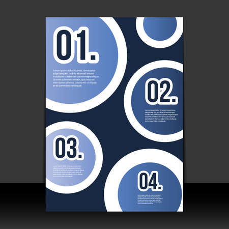 paper cut out: Flyer or Cover Design with Numbers