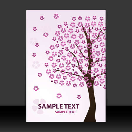 Flyer or Cover Design - Springtime, Cherry blossoms Vector