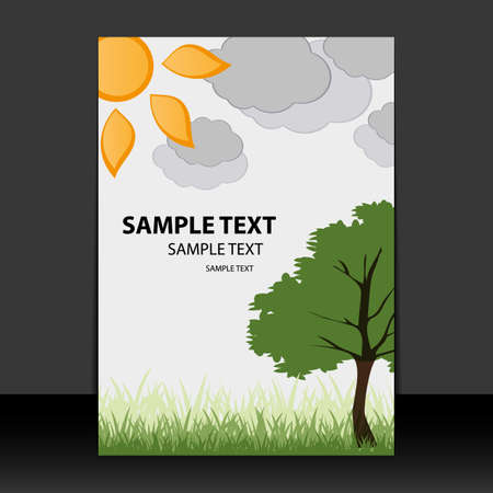 Flyer or Cover Design - Spring, Summer time Vector