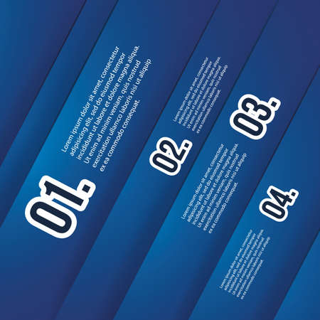 Header or Banner Designs with Numbers Vector
