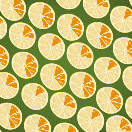 Seamless Citrus Background Vector