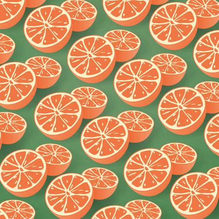 ripened: Seamless Citrus Background