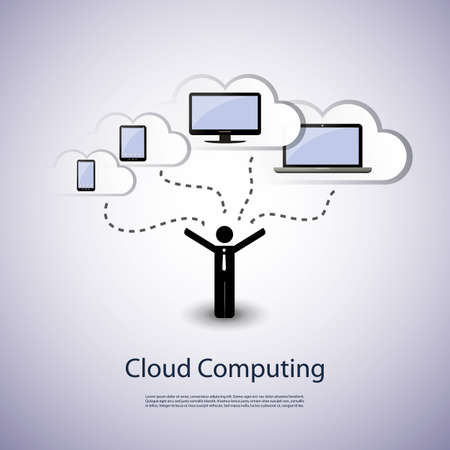 chatting: Cloud computing concept Illustration