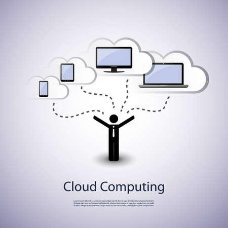 global networking: Nube concepto de computaci�n