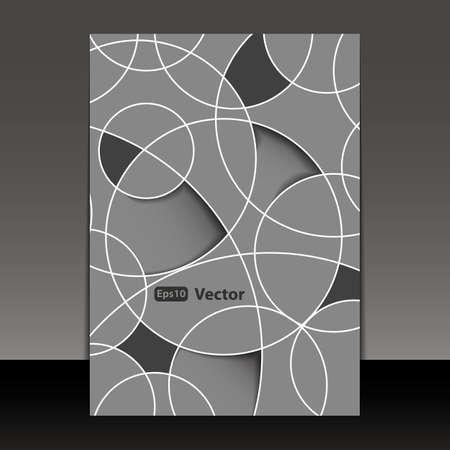 decor graphic: Volantino o Cover Design Vettoriali
