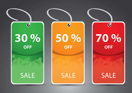 Discount cards, tags, labels Stock Vector - 15945960