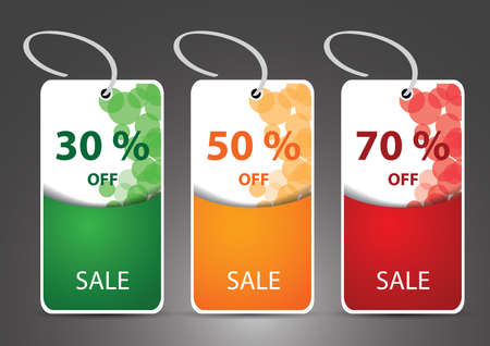 Discount cards, tags, labels Vector
