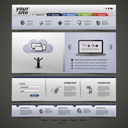 Website Template Stock Vector - 15889621