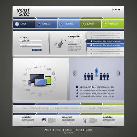 Website Template Stock Vector - 15802263