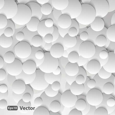 Circles with drop shadows Vector