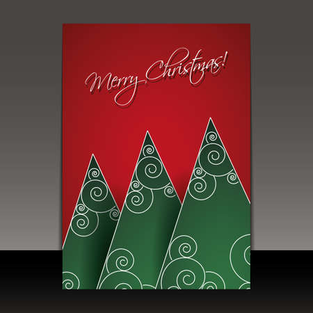year curve: Christmas Card, Flyer or Cover Design