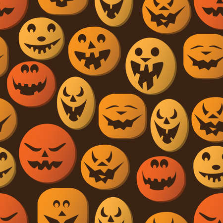 carved pumpkin: Seamless Halloween Background