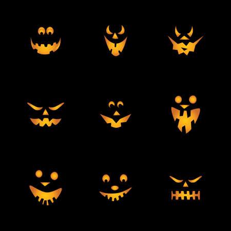 scary pumpkin: Halloween Pumpkins Background Illustration