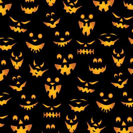 halloween pumpkins: Halloween Pumpkins Background Illustration