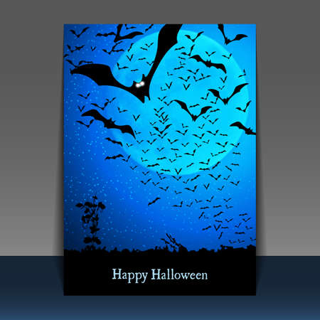 Halloween Flyer or Cover Design Vector