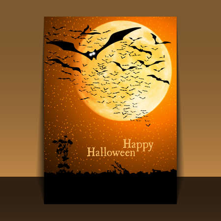 Halloween Flyer or Cover Design Stock Vector - 16007426