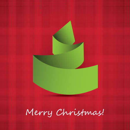 Origami Christmas Tree Card Stock Vector - 16241782